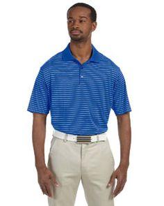 A160 adidas Golf Men's climalite® Pencil Stripe Polo