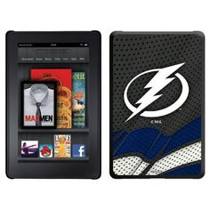 Tampa Lightning« - Home Jersey design on a Black Thinshield Case for Amazon Kindle Fire by Coveroo. $39.95. This hard shell polycarbonate case offers a slim fit form factor, while covering the back and sides of your Kindle Fire
