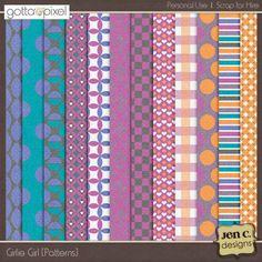 Girlie Girl: Digital Scrapbook Patterned Papers at Gotta Pixel. www.gottapixel.net/