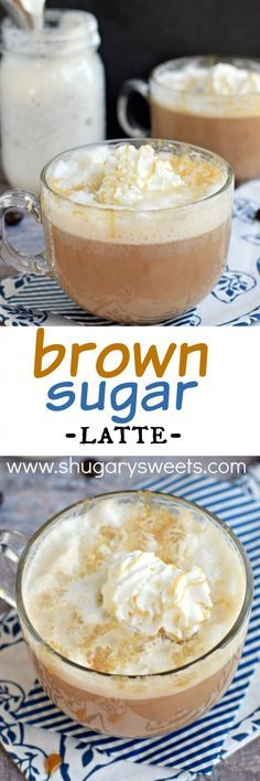 Enjoy homemade coffeehouse drinks at home! This Brown Sugar Latte is not only delicious, but it's easy to make too! Enjoy homemade coffeehouse drinks at home! This Brown Sugar Latte is not only delicious, but it's easy to make too! Yummy Drinks, Yummy Food, Shugary Sweets, Chocolate Caliente, Hot Chocolate, Coffee Creamer, Coffee Coffee, Starbucks Coffee, Starbucks Food