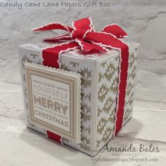 The Craft Spa - Stampin' Up! Stamped Christmas Cards, Christmas Paper Crafts, Hand Stamped Cards, Stampin Up Christmas, Christmas 2016, Christmas Ideas, Small Gift Boxes, White Gift Boxes, Paper Gift Box