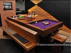 Hubby's man cave (pool)table @awesomeinventions