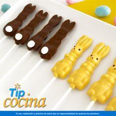 Paletas de chocolate en forma de conejo. Obséquiales un pequeño detalle a tus hijos y sus amigos, prepara paletas de chocolate en forma de conejo. Chocolate Pops, Shape, Boy's Day, Rabbits, Crack Cake, Sons