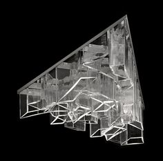 Daniel Libeskind creates chandelier  for Lasvit from shafts of crystal
