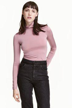 Camisola de gola alta   H&M