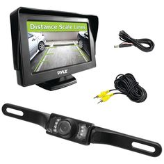 "Pyle 4.3"" Monitor & Backup Swivel-angle Adjustable Camera System With Distance-scale Lines & Parking Assist  #fashions #winter #summer #RC #shoes #children #watches #bigboytoys #men #suits"