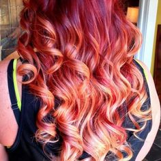 Redhead red hair ombre