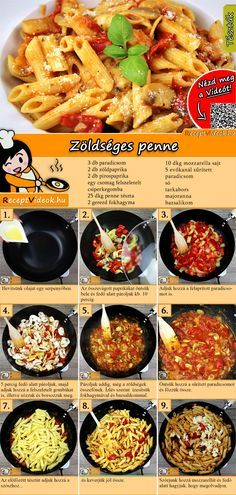 Vegetable Penne recipe with video - recipe ideas / simple recipes - Nudelrezepte - Salad Recipes Healthy Lacto Vegetarian Diet, Italy Food, Healthy Salad Recipes, Vegetable Recipes, Italian Recipes, Food Videos, Vegas, Food Porn, Easy Meals