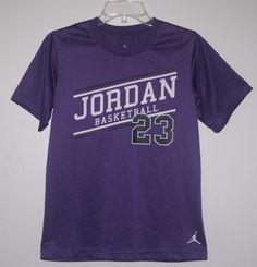 Dri Fit Air Jordan Basketball Shirt Large Purple Short Sleeve L #AirJordan #basketball