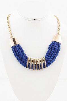 Colar de tecido Titular Knot envolto jóias corda borla colar de corda trançada de moda verão colares acessórios olhar colorido primavera