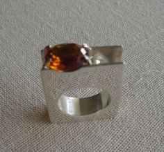 Construction ring with Brazilian Topaze