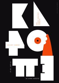 Cool Poster by Götz Gramlich: Karrotte's 40th Birthday