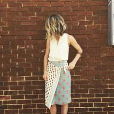Wrapped Pencil Skirt #Anthropologie #MyAnthroPhoto
