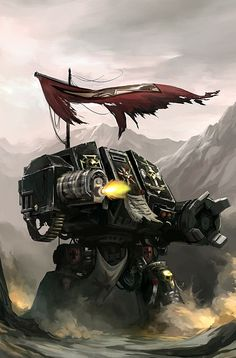 Dreadnoughts are a combination of armoured walker and cybernetic life-support system; their pilots are neurally linked straight into the Dreadnought's cybernetic systems, and are able to use the walker as if it were their own body, although they are permanently entombed within its Ceramite skin until they are destroyed.