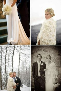 Winter wedding - Love the wrap