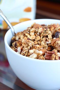 This Date Sweetened Nutty Apple Granola is crunchy, nutty and ...