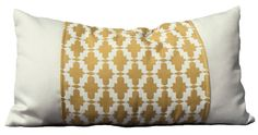SOHIL I Outdoor pillow in sunny yellow and white I www.sohildesign.com