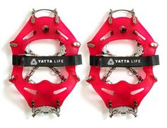Yatta Life Ultimate Trail Spikes, don't leave home without them. Mud, Snow, Ice Yatta Life has you covered! Mountain Gear, Welcome Winter, Ice Climbing, Ice Fishing, Your Shoes, Designer Shoes, Spikes, Slip On, Running
