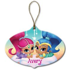 Delight devoted Shimmer & Shine fans with this precious personalized ornament. Shipping note: This item will be personalized just for you. Personalised Christmas Decorations, Personalized Ornaments, Personalized Gifts, Holiday Decorations, How To Make Ornaments, Holiday Ornaments, Christmas Tree, Shimmer N Shine, Sparkle