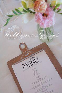 Menus <3 #Maleny #flowers #weddings #tiffanys #weddingsattiffanys #tiffanysflowers #decor #menus #tables #reception #venue #styling