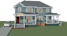 Multi-Family Plan 72777 | Bungalow    Plan with 2174 Sq. Ft., 6 Bedrooms, 4 Bathrooms