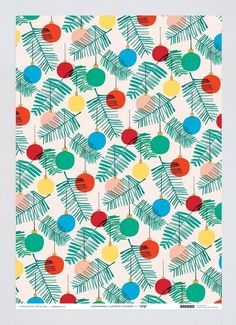 Baubles Wrapping Paper x 3 Sheets
