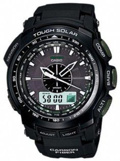 494000ddbb6d Casio Mens PRGS510-1 Black Resin Quartz Watch with Grey Dial. Go Watch ·  New Durable Protrek and Casio Watches