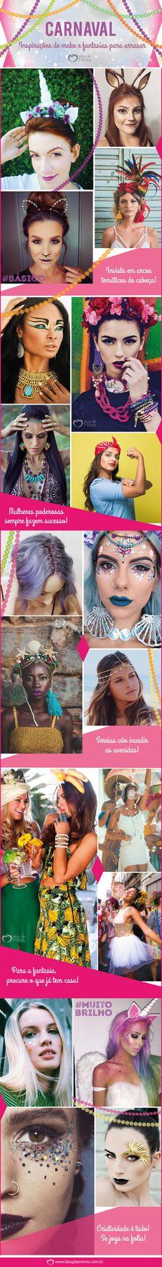Carnaval: inspirações de make e fantasias para arrasar - Blog da Mimis #mimis #carnaval #fantasia #maquiagem #make #glitter #acessórios #folia