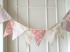 Pastel Shabby Chic Fabric Banners, Bunting, Garland, Wedding Bunting, Pennants, Flags - 3 yards (5th version) on Etsy, $32.20 AUD
