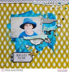 P. J. as #carouselcollection #maggieholmes #scrapbooklayout #scrapbooking #pinkandpapershop