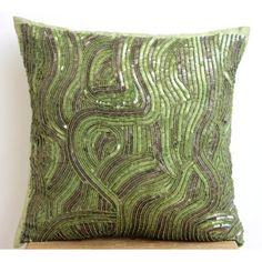 "Designer Green Throw Pillows Cover, , 12""x12"" Throw Pillo... https://www.amazon.com/dp/B00J2CB1JG/ref=cm_sw_r_pi_dp_x_4AtqybAJVVZHM"