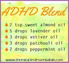 DIY Essential Oil Blend for ADHD #essentialoil