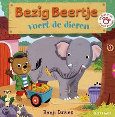Bezig Beertje voert de dieren, Benji Davies