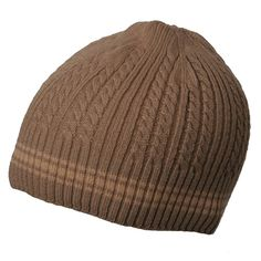 New Cable Beanie-Khaki