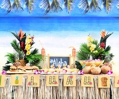 Vintage Backyard Luau Say aloha to paradise. With island-inspired decor and pineapple-kissed dishes, your backyard luau will be looking like a vintage oasis in no time. Now crank the Jimmy Buffet and get chilling! - FREE Printable party kit