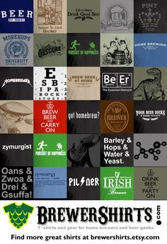 Barley Hops Water & Yeast Beer TShirt LARGE by brewershirts, $18.99