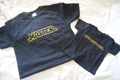 """Father's day gift.  """"Master & Apprentice"""" Star Wars T-Shirts.  CUTE"""