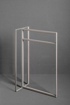 Toallero 2 barras / de pie / de aluminio - TYPE: T108 by Marco Taietta - MAKRO