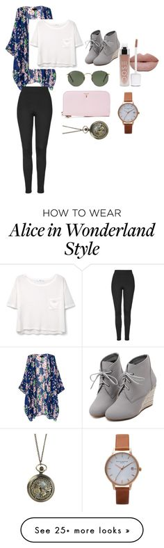 """""""This is so my style"""" by briannabee7 on Polyvore featuring WithChic, Serapian, Olivia Burton, Ray-Ban, MANGO, Topshop and Disney"""