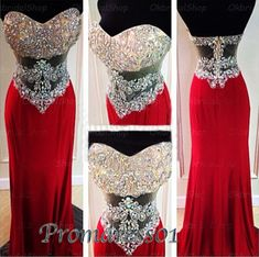 Prom dress 2015, sparkly strap senior prom dress, prom gown for teens #prom2k15 #promdress -> http://sweetheartdress.storenvy.com/products/13142805-2016-sweetheart-wine-red-chiffon-long-rhinestone-see-through-slim-prom-dress