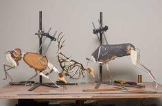 Nick Bibby Sculpture Armature Sculpture, Polymer Clay Sculptures, Sculpture Art, Sculpting Tutorials, Art Tutorials, Sculpture Techniques, Sculpture Projects, Miniature Figurines, Clay Animals
