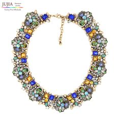 2017 NEW fashion necklace collar Necklaces & Pendants trendy acrylic pendant Twisted Singapore Chain choker statement necklace