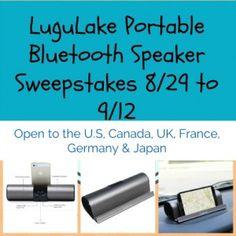 LuguLake Portable Bluetooth Speaker Sweepstakes - Queen of Savings