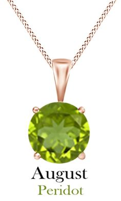 Jewel Zone Us Women's Classic Birthstone Round Shape Pendant Necklace in 10k Solid Rose Gold (1 1/2 cttw). Crafted in 10K Solid Rose Gold. The fashion Pendant enhance with the Peridot Birthstone of August month bring you GOOD LUCK. Find a special gift for a loved one or a beautiful piece that complements your personal style with jewelry from the Jewel Zone US Collection. Note: Due to the difference between different monitors, the picture may not reflect the actual color of the item. We...