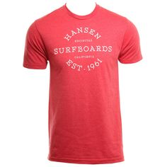 Hansens Mens Shirt Circle Letters Red Heather