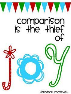 True ! Never ever compare yourself to others... you are unique !