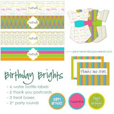 Birthday Party - Free Printables