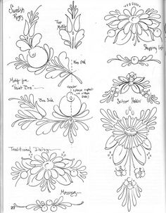THE ART FOLK PAINTING Floral Embroidery Patterns, Embroidery Works, Folk Embroidery, Embroidery Designs, Embroidery For Beginners, Embroidery Techniques, Pencil Drawing Inspiration, Vellum Crafts, Hungarian Embroidery