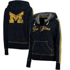 Michigan Wolverines Colosseum Women's Tai Full-Zip Hoodie - Heathered Navy - $61.99
