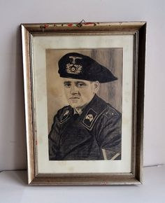 WW2 GERMAN ARMY Portrait Uniform Parett Panzer Tank Elite Hand drawing  | eBay German Army, Antique Shops, Ww2, How To Draw Hands, Portrait, Antiques, Drawings, Painting, Ebay